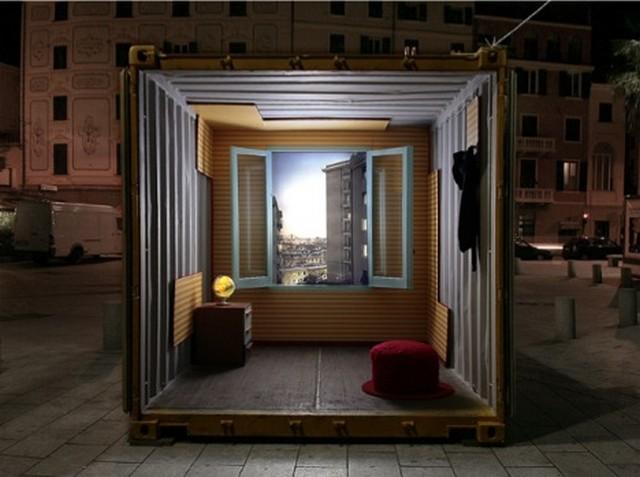 Int rieur 2 conteneurs france for Amenagement interieur container