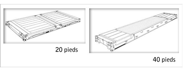 Conteneur 20 pieds capacit bande transporteuse caoutchouc for Plan container 20 pieds